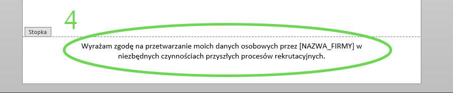 4a006ae77cd9b7 Aktualna 2019 Klauzula do CV i Listu motywacyjnego